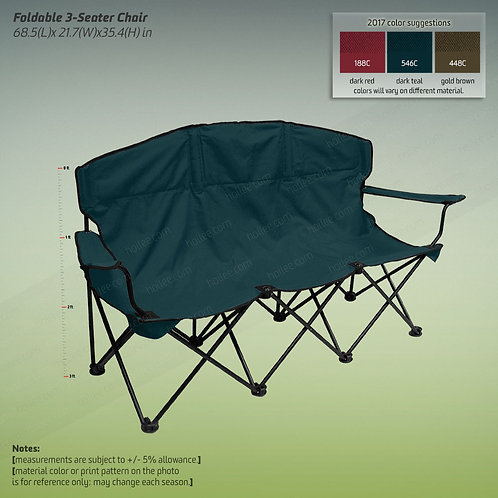 3-seat Foldable Chair