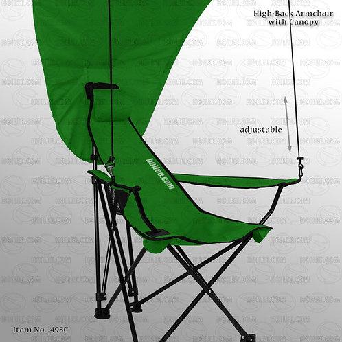 495C: High-Back Armchair with Canopy