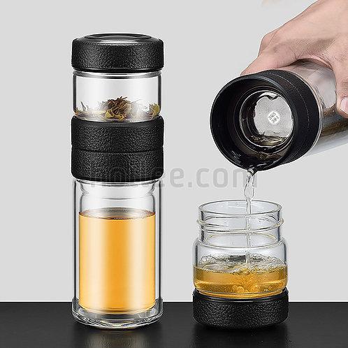Tea Glass Bottle Double Layer 500ml