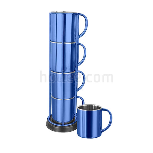 Stainless Steel Cups with Stand