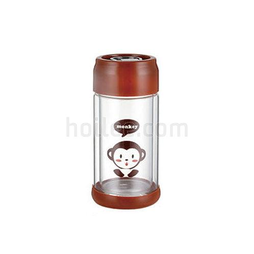 Unique Printed Borosilicate Glass Water Bottle 300ml