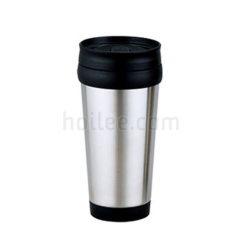 Stainless Steel Plastic Mug 450ml