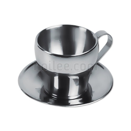 Stainless Steel Cups w/ Saucer 200ml