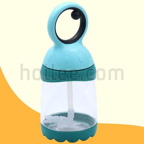 Plastic Kid Bottle w/ Straw 260ml