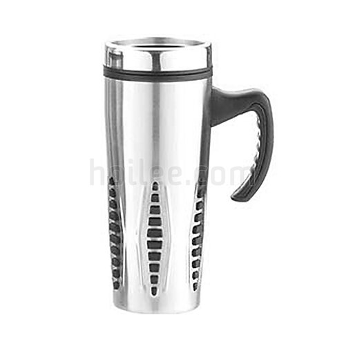 Outer Stainless Steel Plastic Mug 450ml