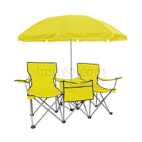 Double Seat w/ Table & Umbrella