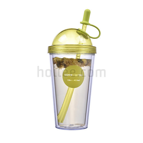 Plastic Mug With Straw