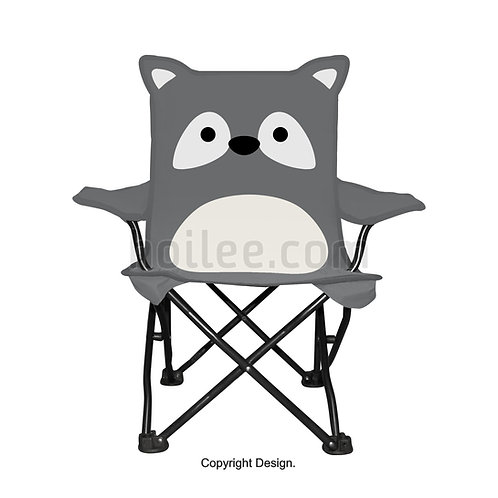 Kids Raccoon Quad Chair
