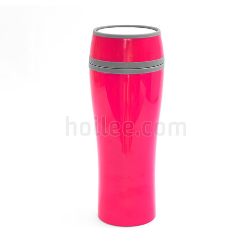 Plastic Mug with Push Buttons Lids 400ml
