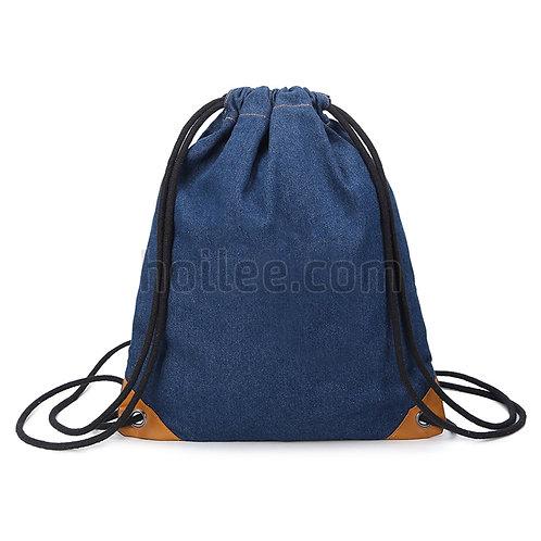 Deniml Drawstring Backpack