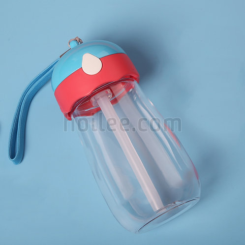 Plastic Kid Bottle with Straw
