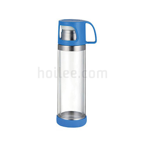 Energy Drink Borosilicate Glass Water Bottle 500ml