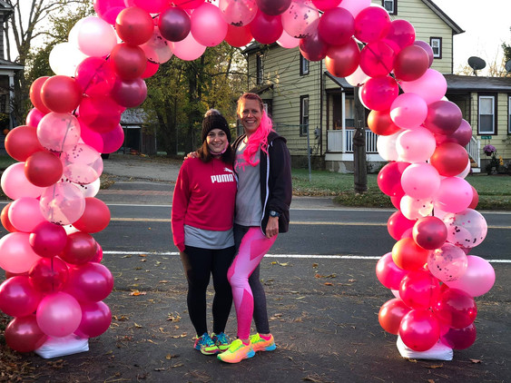 Michelle and Sarah GOING PINK!