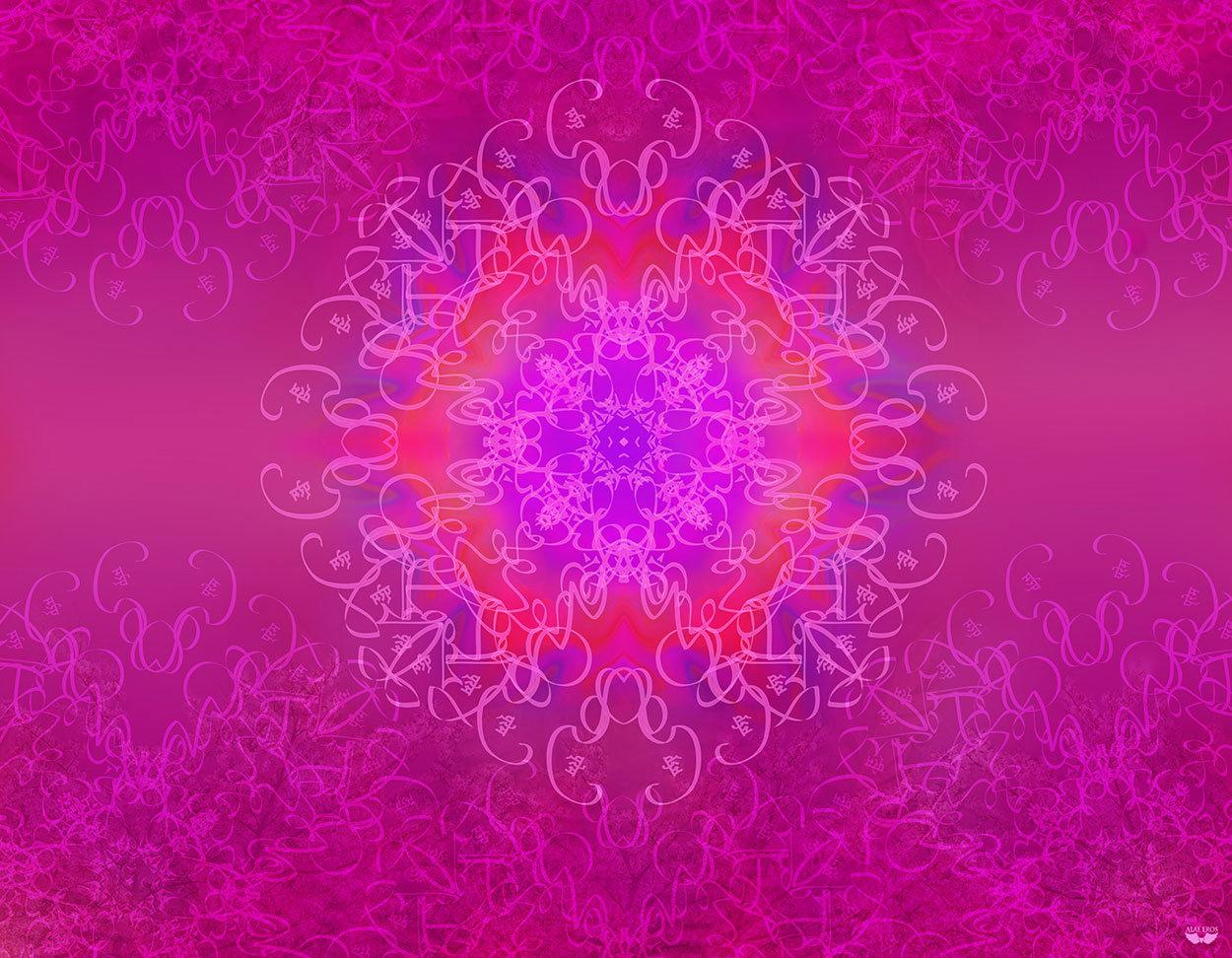 Mother Star of Atlantis Meditation Scarf
