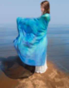 Dolphin of Atlantis Meditation Scarf