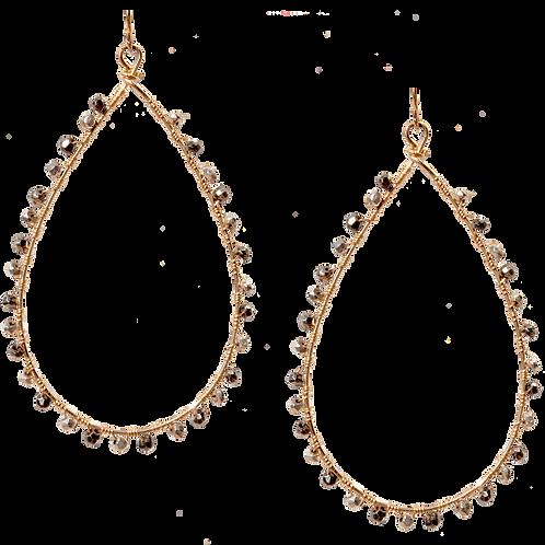 KNOX - Swarovski Pyrite/Gold Filled Earrings