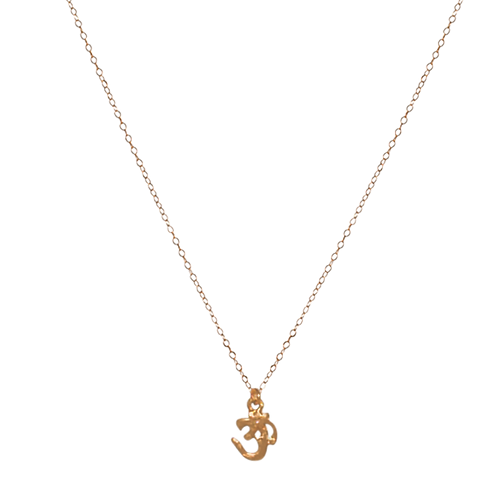 OHM- Gold Filled Charm Necklace