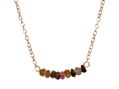 LYNZIE - Tourmaline/Gold Filled Necklace