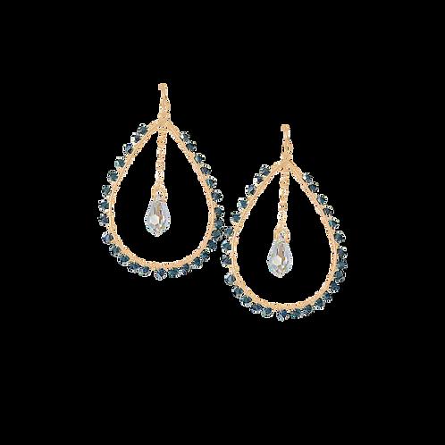 LOUISA - Montana Blue/Gold Filled Earring