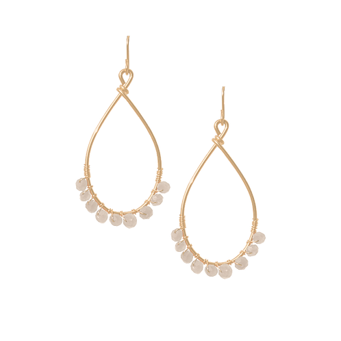 TEMPEST - Pearl/Gold Filled Earrings