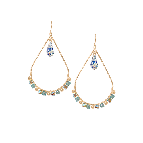 EMMELINE - Crystal/Opal/Gold Filled Earrings