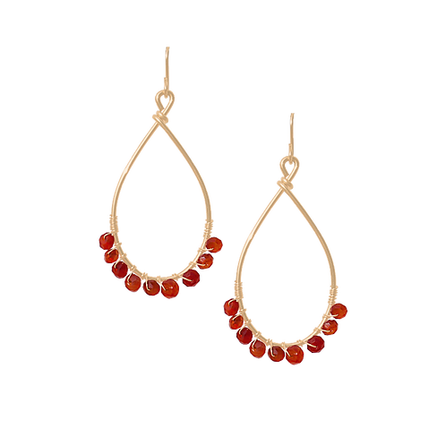 TEMPEST - Carnelian/Gold Filled Earrings
