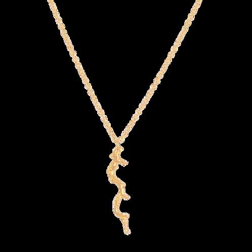 FREYA - Vermeil Twig Necklace