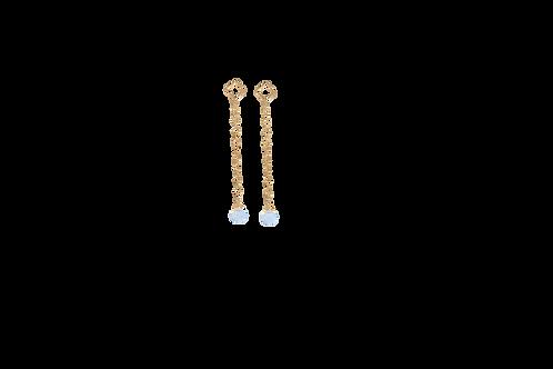 ADELINE- Opalite/Gold Filled Earrings