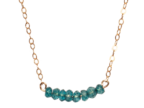 LYNZIE - Apatite/Gold Filled Necklace