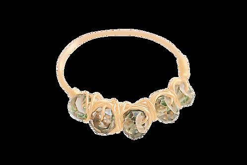 MISHA - Mystic Quartz/Gold Filled Ring