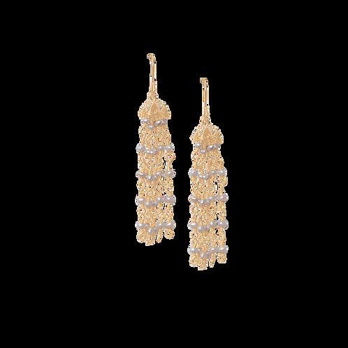 STELLA - Crystal & Pearl Earrings