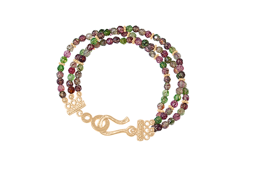 MEADOW - Tourmaline/Gold Filled Bracelet