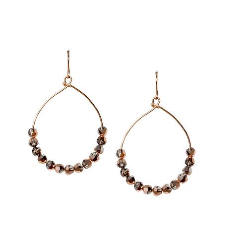 REED - Swarovski Rose Gold/Gold Filled Earrings