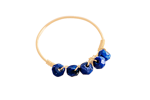 MISHA - Lapis/Gold Filled Ring