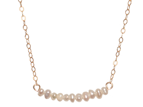 LYNZIE - Pearl/Gold Filled Necklace