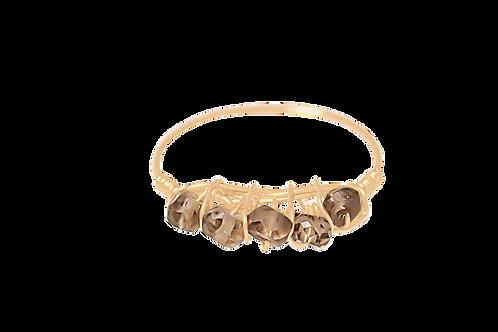 MISHA - Smokey Topaz/Gold Filled Ring