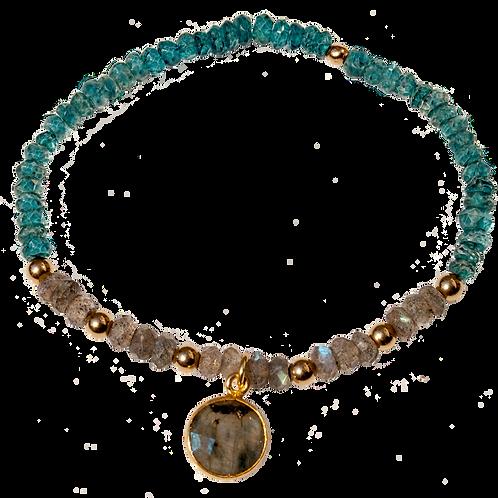 ARDEN - Labradorite/Apatite Gold Filled Bracelet