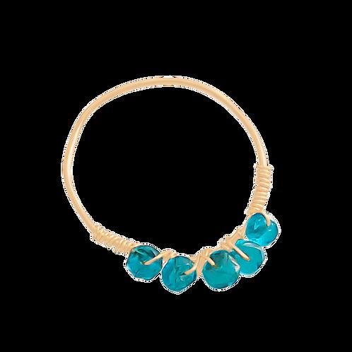 MISHA - Apatite/Gold Filled Ring