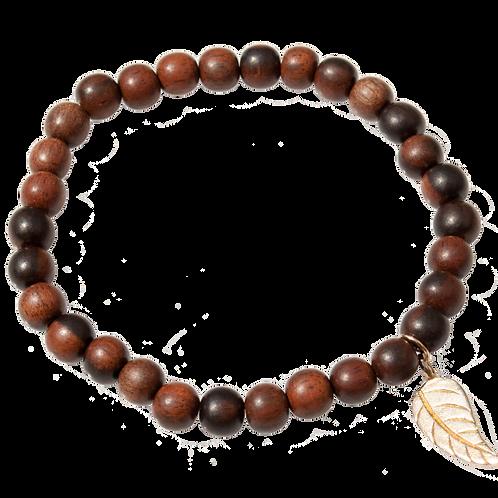FAUNA - Tiger Ebony Wood/Vermeil Bracelet