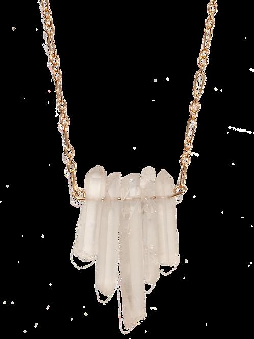 MELODY - Crystal Quartz Sticks/GF Necklace