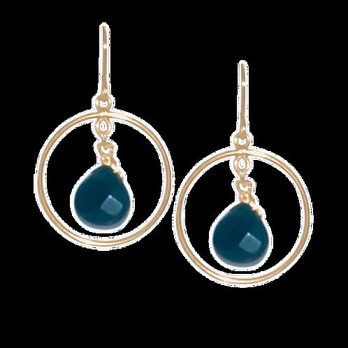 EVERLEIGH - Blue Jade/Gold Filled Earrings