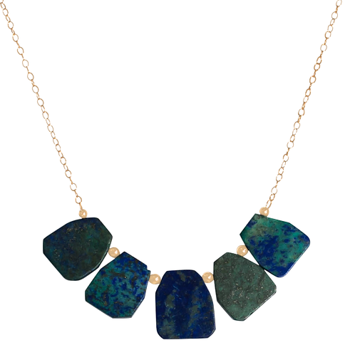 LONDON- Lapis/Gold Filled Necklace