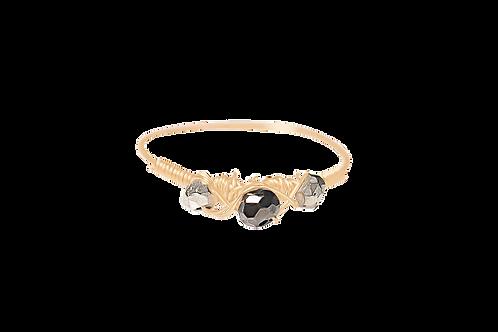 EVA - Pyrite/Gold Filled Ring