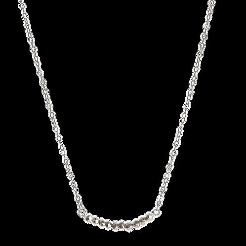 LYNZIE- Pyrite/Oxidized Silver Necklace