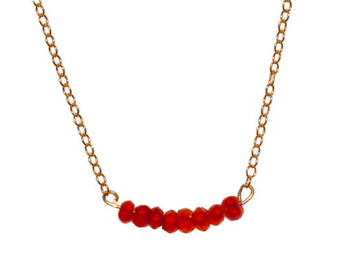 LYNZIE - Carnelian/Gold Filled Necklace