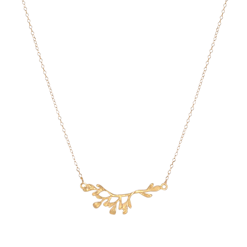 VICTORIA- Gold Filled Leaves Necklace
