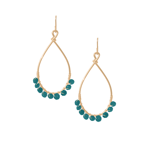 TEMPEST - Apatite/Gold Filled Earrings
