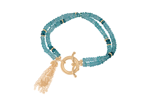 MAYA - Apatite/Vermeil Bracelet