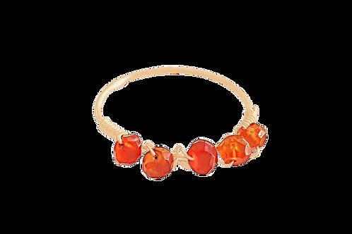 MISHA - Carnelian/Gold Filled Ring