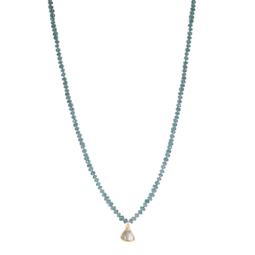 CHARLOTTE- Apatite/Fresh Water Pearl Necklace